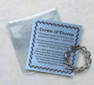 "Inspirational Moments ~ Crown of Thorns Pocket Piece. Enclosed in a plastic case with a crown of thorns medal  Perfect for purse, briefcase or pocket, these small devotional remembrances are a helpful way to encourage you to have an inspirational moment every day  Contains a prayer card and devotional remembrance  Card Size: 2 3/4"" x 3"""