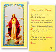 The Lords Prayer Laminated Holy Card