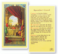 Apostle's Creed Laminated Holy Card