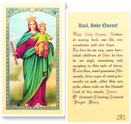 Hail Holy Queen Laminated Holy Card