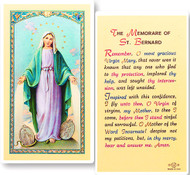 Clear, laminated Italian holy cards with gold accents. Features World Famous Fratelli-Bonella Artwork.  Measures 2.5'' X 4.5''