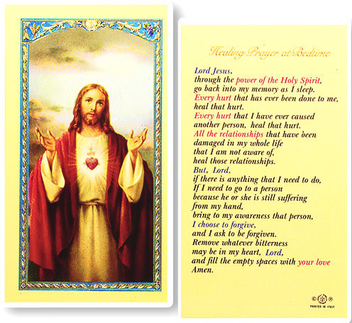 3ab68819cba Healing Prayer at Bedtime Laminated Holy Card - St. Jude Shop, Inc.