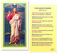 The Beatitudes Laminated Holy Card