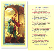 In Time of Loss Laminated Holy Card