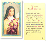 St. Therese Prayer Laminated Holy Card