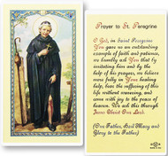 St. Peregrine, Patron Saint of Cancer Laminated Holy Card