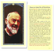 Padre Pio Laminated Holy Card