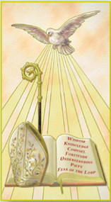 Holy Spirit (Confirmation) Paper Holy Card