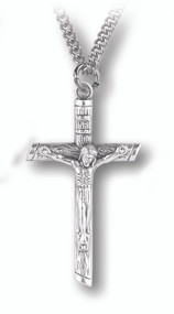Log Shaped Crucifix Pendant