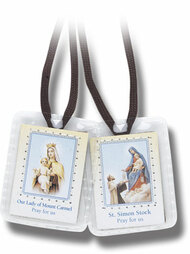 Brown or White Scapular. Laminated (Sealed in a Soft Plastic Case) or Plain Cloth Scapular. Bulk Pricing Available ~ Call 1.800.523.7604