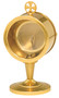 """24k Gold plated. Secure acrylic glass luna for 2 3/4"""" host. 7 1/2"""" height overall"""