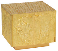 """24k gold plated. 7-1/2""""H. x 9""""W. x 8""""D. Inside dim. 6-1/4""""H. x 7-1/2""""W. x 6-3/4""""D.. Wt. 19 lbs. Luna included"""