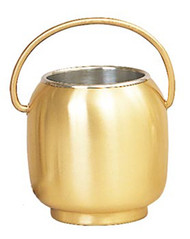 Holy water bucket with sprinkler with a bronze satin finish - St. Jude Shop