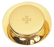 "Paten Pyx and Burse , 25 host capacity,  3 7/8"" diameter"