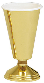 """High Polished Brass Vase. 11"""" height, 5"""" base. Comes with liner, but extra liners can be ordered"""