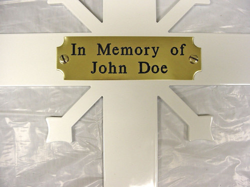 "Mounted Plaques: 1"" x3""  All Bright Brass"