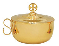 "Gold Plated Ciborium.  Four sizes to choose from ranging from 4 1/2"" to 5"" Height with host capacities from 300 to 750.  Host capacity (Based on 1 1/8"" Host)"