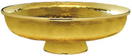 "Gold Plated, hammer finished Ciborium. Dimensions: 3 1/4""H, 10""D. 1000 host capacity (Based on 1 1/8"" Host)"