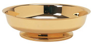 "Bright Gold Plated. 3"" height, 10"" diameter. 1000 host capacity (Based on 1 1/8"" Host)"
