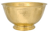 "Brass Bowl has a hammered finish. Dimensions are 8""D x  4""H. Bowl is available in 24k gold plate or silver plate"