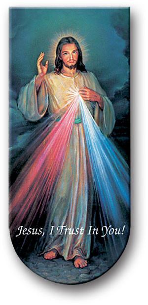 "Divine Mercy 3"" Magnetic Bookmark with Italian Artwork & Prayer on Reverse side"