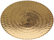"24k Gold plated scale paten. Textured design. 5 7/8"" diameter"