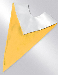 Reversible Liturgical Choir Stoles. Bright Gold & White, with or without white Latin Cross. Choir stoles are an economical means of coordinating your choir's appearance with the church seasons. Qwick-Ship-Ready to ship the next day following factory receipt of order. One size to fit most adults. Machine washable, 100% polyester. Pennant with Latin Cross is dry clean only. Custom Tailoring is an additional price. Bulk Pricing is available (6 or more plain stoles 19.90 each. With Latin cross 23.90 each) ~ Please call 1.800.523.7604 for pricing information