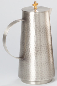 "10 1/2"" height, Hammered finish.  60 ounce capacity.  Antique or Polished Silver"
