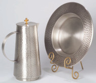 "Antique or Polished Silver Tray for Flagon K660 (flagon not included) 11"" diameter, 1"" height."