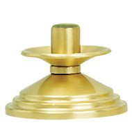 "Brass, Satin Finish Candlestick. 4"" Height. Complementary Crucifix K525-AC"