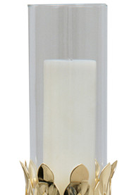 "Extra glass for Processional Torch K437, Glass measures 3"" X 8"". Available in clear only."