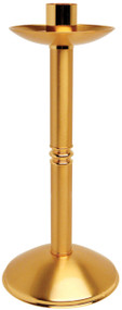 """24K Gold Plated. 14 1/2"""" Height, 7"""" Base, 1 1/2"""" Socket"""