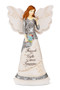 """8"""" Angel holding Butterfly.  Inscribed with: """"Friends are Gifts to always Treasure"""""""