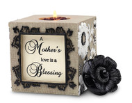 "4.75"" SquareTea Light Holder.  ""A Mother's love is a Blessing"""