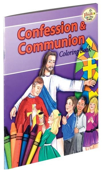 Confession and Communion Coloring Book- A fun and creative way for children to learn about the importance of going to Confession and receiving Holy Communion.  Text by Michael Goode and illustrations by Margaret Skelly