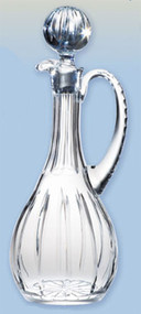 "Imported Crystal Flagon is 15 1/2""H and has a 46 ounce capacity"