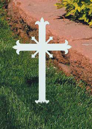 Memorial Cross K4157 - Miniature Fleur de Lis