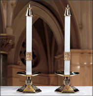 "Cross of Erin Paschal Altar Candles - These altar candles complement Paschal Candle ""The Cross of Erin"""
