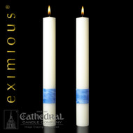 "These altar candles complement Paschal Candle ""Ascension"""