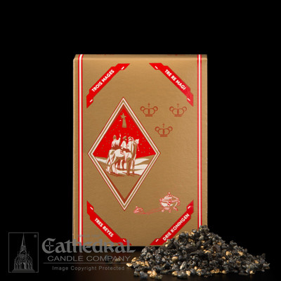 This traditional incense is the one aroma so many remember. Perfect for High Mass! Incense is an enticing blend of black frankincense resin, gold frankincense resin, and styrax scented oil. Comes in a One pound box, blended in Holland.