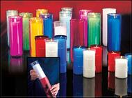 3, 5, 6 or 7 Day  Inserta-Lite® for use with Reusable Glass Globes. Clear plastic candle refills with the insulation of reusable glass globes, the Inserta-Lite® system provides an economical alternative to traditional glass offering candles. The Inserta-Lite® provides superior offering candle performance without the weight and breakage associated with other glass offering candles.  Plastic inserta lites are sold Individually or by the case 3 Day 48/Case, 5 Day 24/Case, 6 Day 24/Case, 7 Day 24/Case
