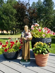 St. Anthony Outdoor Cement Garden Statue in 16in and 26in Size