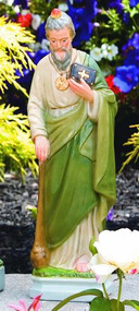 "St. Jude Cement Handcrafted Statue 109018 Height: 16.5"", Base Width: 4.75"", Base Length: 3.75"" Weight: 9 lbs"