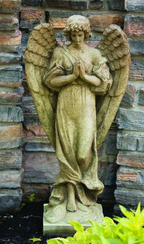 "This statue of Gabrielle the Angel can make a stunning addition to your garden. This statue features the angel standing with her hands together in prayer position. Dimensions: 44.5""H x 21""W x 12.5""B 197 lbs Made to order. Allow 4-6 weeks for delivery. Made in USA Call for shipping prices."