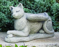 "Cement Lay down Guardian Cat Angel. Dimensions: H: 9.5"", W: 7.75"", L: 15, BW: 5"", BL: 14.75"". Wt: 19 lbs. Made to order...Allow 3-4 weeks for delivery. Made in the USA! Call for shipping prices"