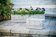 Larger box planter with angel detailing.