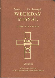 Large Print! ~ Volume I (922/10) Weekdays only from Advent to Pentecost Year I & II,  Brown Flexible Cover