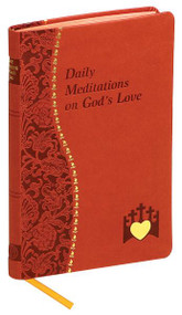 Daily Meditations on God's Love is an excellent resource for those seeking a deeper relationship with God. In Daily Meditations on God's Love, Marci Alborghetti, offers readers the opportunity to use Scripture, reflection and prayer to deepen their experience of God's love every day. Covered in brick colored imitation leather with ribbon marker, Daily Meditations on God's Love will enable readers to more readily apply the fruits of their relationship with the Lord to their daily lives. This book is meant to help all clergy, religious, and lay people to share more fully in the Prayer of the Church through inspirational prayers and reflections centered on the celebration of the Hours.  4 x 6 1/4