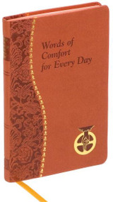 "Short meditations for every day, including a Scripture text and a meditative prayer to God the Father. Illustrated and printed in two colors. Includes ribbon marker. 4"" X 6 1/4"" Red Imitation Leather"