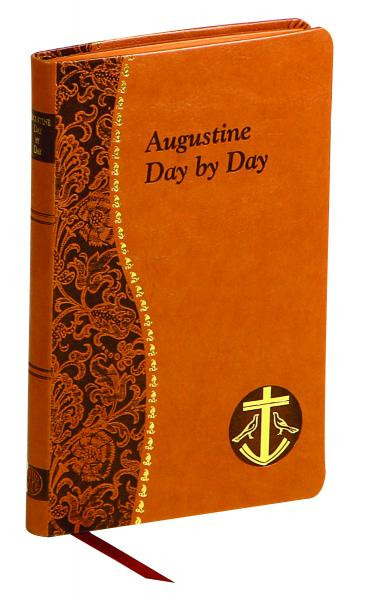 """Minute meditations for every day of the year, taken from the writings of Saint Augustine. Each day concludes with a prayer from the Saints. Illustrated and printed in two colors. Includes ribbon marker.  4"""" X 6 1/4"""" Tan Imitation Leather"""